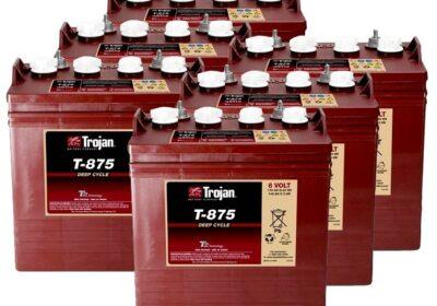 0 a3b5d2fd 762 Kit 6pcs Trojan T 875 Deep Cycle Flooded Battery 8V 170Ah 24V 4kWh 20050820 6